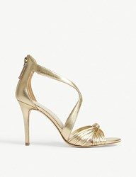 Sandro Elisa Metallic Leather Sandals Or