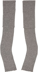 Stella Mccartney Grey Long Fingerless Gloves