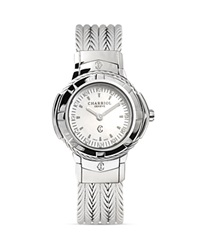 Charriol Celtic Small Round Steel Watch With Diamonds 26Mm Silver