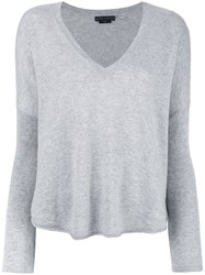 Alice Olivia Curved Hem Jumper Grey