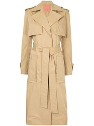 Manning Cartell Military Style Trench Coat Brown