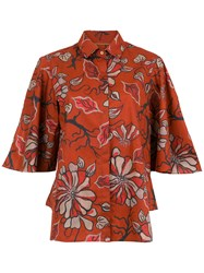 Sissa Floral Agreste Shirt Red