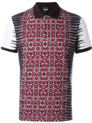 Just Cavalli Geometric Print Polo Shirt Black