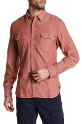 Timberland Slim Fit Double Layer Long Sleeve Shirt Red