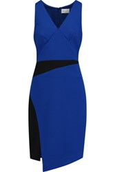 Milly Two Tone Cady Dress Royal Blue