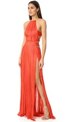 Maria Lucia Hohan Zakai Sleeveless Maxi Dress Red
