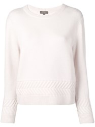 N.Peal Zig Zag Patterned Sweater Pink