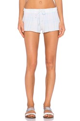 Wildfox Couture Pastel Summer Plaid Short Blue