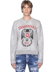 Dsquared Side Zip Distressed Cotton Sweatshirt