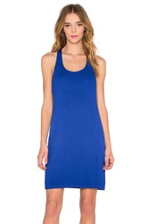 Splendid Crinkle Gauze Tank Dress Blue
