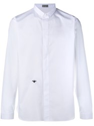 Christian Dior Homme Embroidered Bee Logo Shirt White