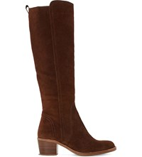 Dune Twitchell Suede Knee High Boots Brown