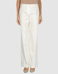 Blue Les Copains Dress Pants White