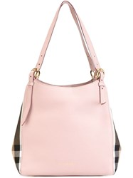 Burberry 'The Small Canter' Tote Pink And Purple