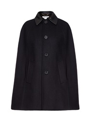 Saint Laurent Leather Collar Cape