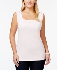 Karen Scott Plus Size Square Neck Tank Top Only At Macy's Blush