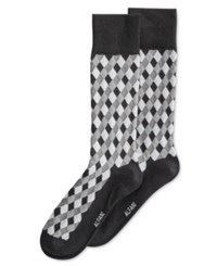 Alfani Spectrum Diamond Pattern Single Crew Socks Tonal