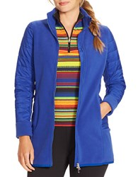 Lauren Ralph Lauren Plus Fleece Jacket Blue