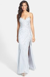 Women's Sean Collection Sweetheart Neck Sequin Gown Silver