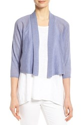 Women's Eileen Fisher Kimono Sleeve Crop Cardigan Aster