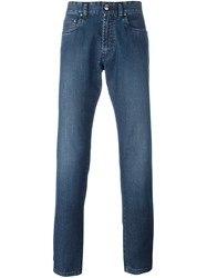 Brioni Cropped Jeans Blue