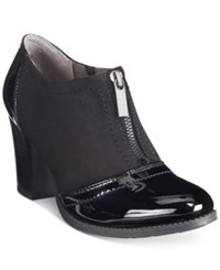 White Mountain Pawnee Zip Up Booties Women's Shoes Black