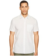 Jack Spade Short Sleeve Ufo Print Shirt White Men's Clothing