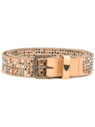 Htc Los Angeles Studded Belt Nude And Neutrals