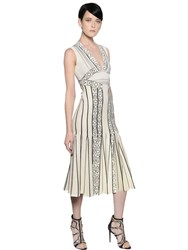 Peter Pilotto Pleated Stretch Viscose Knit Dress