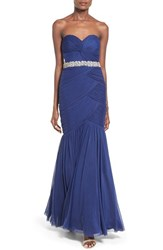 Women's Way In Strapless 'Amy' Ruched Mermaid Gown