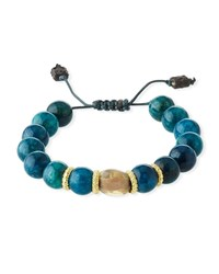 Armenta Old World Apatite And Opal Bead Pull Through Bracelet Yellow Black