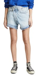 R 13 R13 Crossover Shorts Tilly With Let Down Hem