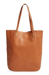 Frye Naomi Leather Tote Brown Whiskey