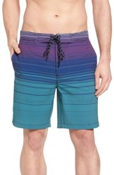 Surfside Supply Ombre Stretch Stripe Board Shorts Silver Pine