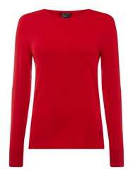 Armani Exchange Long Sleeve Jumper In Absolute Red Red