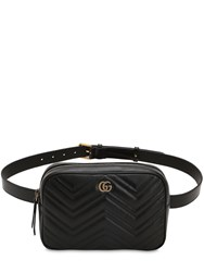 Gucci Marmont Quilted Leather Belt Bag Black