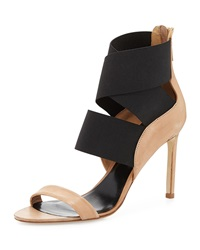 Delman Jean Stretch Wrap Sandal Sahara Black