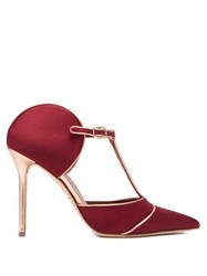 Malone Souliers Imogen Satin Mules Burgundy