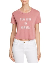 Knowlita New York Or Nowhere Cropped Tee 100 Exclusive Mauve