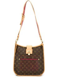 Louis Vuitton Vintage 'Musette' Perforated Shoulder Bag Brown