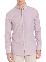 Brunello Cucinelli Checked Long Sleeve Shirt Pink