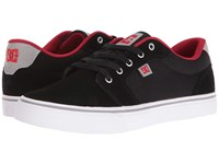 Dc Anvil Black Red Grey Men's Skate Shoes Gray