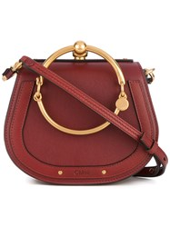 Chloe Petite Tote Bag Women Calf Leather Metal Other Calf Suede One Size Red