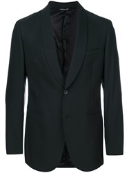 Tonello Smoking Suit Jacket Spandex Elastane Viscose Virgin Wool Black
