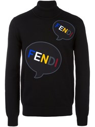 Fendi Print Jumper Black