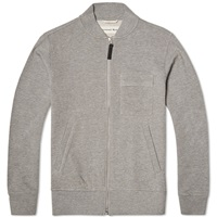 Universal Works Zip Sweat Jacket Grey Marl