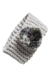 Dena Ear Warmer Pompom Headband Grey Lt. Gray
