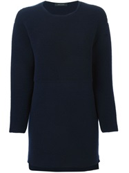 Cedric Charlier Cedric Charlier Ribbed Panel Sweater Blue