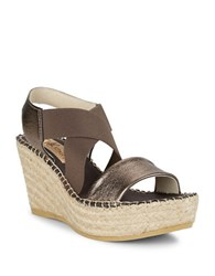 Vidorreta Sybil Wedge Sandals Bronze