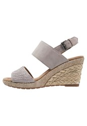 Gabor Wedge Sandals Torba Nude